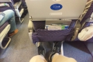 However, there was plenty of leg-room, which equated to plenty of laptop room.