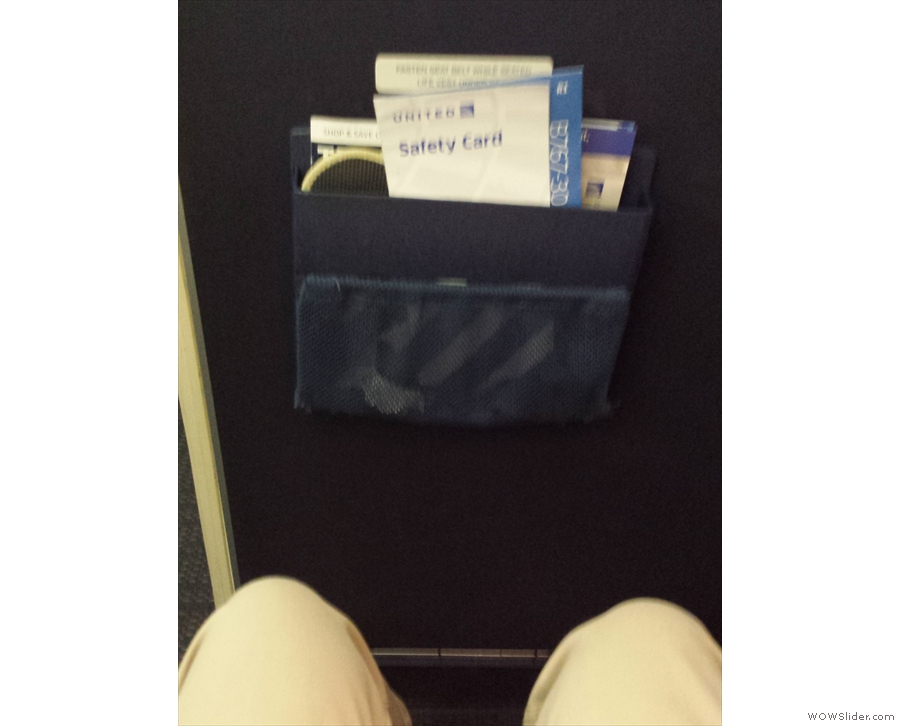 I had a bulk-head seat this time. Not a huge amount of legroom, but more than enough.