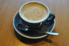 ... and followed it up with a flat white, again with the house-blend.