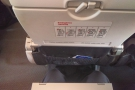 I had my customary exit row seat. Not huge amounts of room, but enough for my knees.