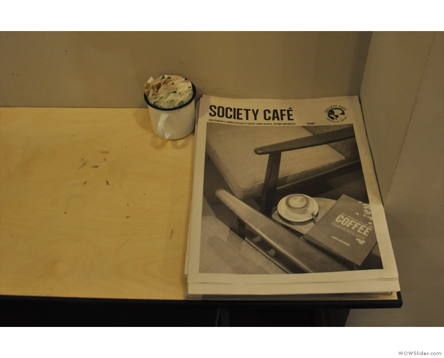 A last couple of things. Society Cafe has its own magazine...