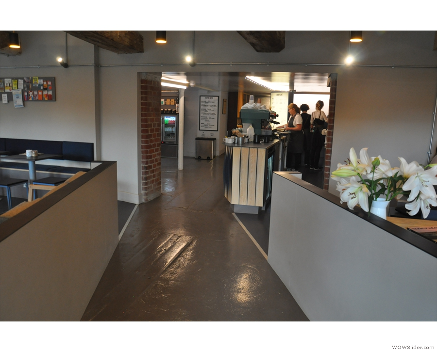 This is the view if you are coming in from Narrow Quay and heading for the counter.