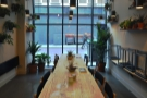 ... and it's glorious communal table. It might be the best spot in the house.