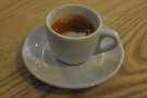 I started with the single-origin guest espresso, a Kenyan from Round Hill Roastery.