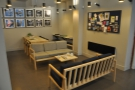 ... and you'll find another large seating area, starting with these two sofas on the right.