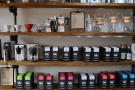 There's plenty of choice: here, for example, is a selection of Ue's coffee...