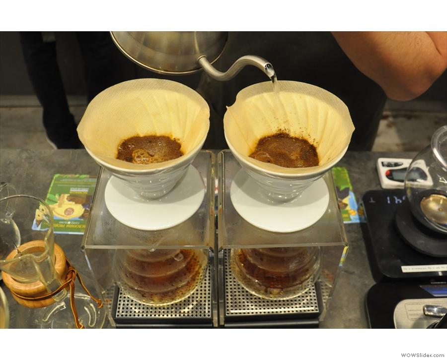 Next comes the main pour.
