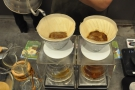 While the first V60 is bubbling away, the second one is started...