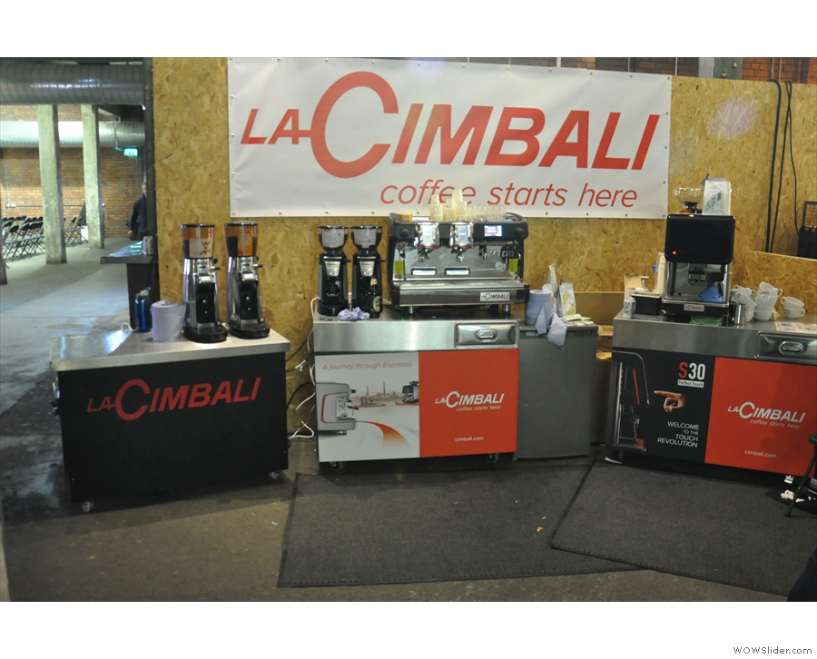 Meanwhile, you can always find something interesting at the La Cimbali stand.