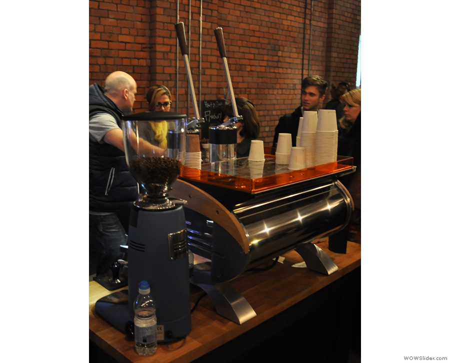 It wasn't all coffee. Last year Conti was showcasing its 60th Anniversary Lever Machine.