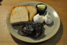 Breakfast on Saturday morning was poached eggs, sourdough toast & mushrooms...