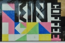 ... you'll find Kin-Kin Coffee, with its colourful, geometric sign.