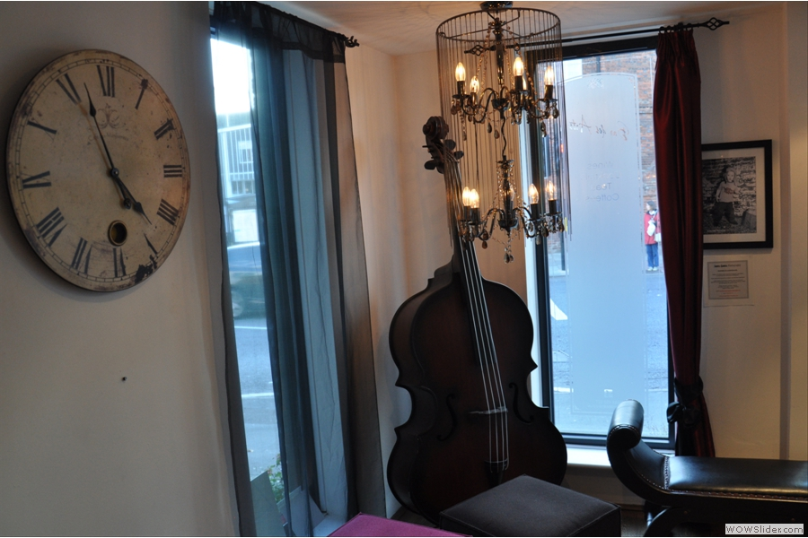 And continuing the arts theme, there's a double bass in the comfy corner