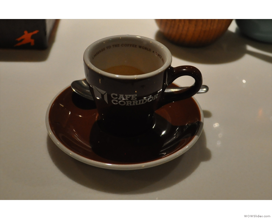 I returned two days later to try the Colombian single-origin espresso.