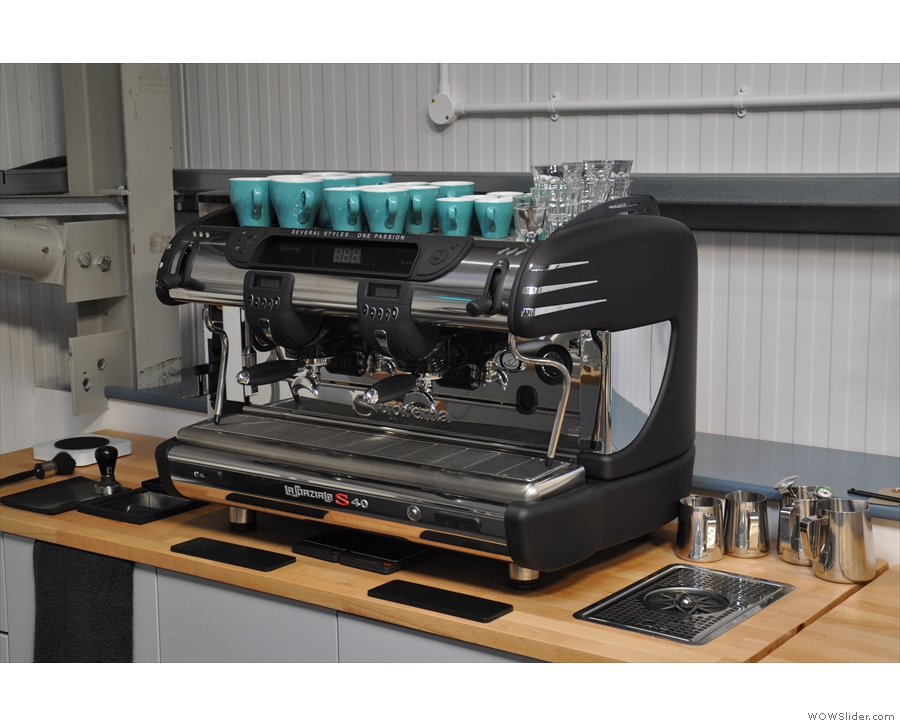 On the right, which is supplied with Cumbrian water, a La Spaziale S40...