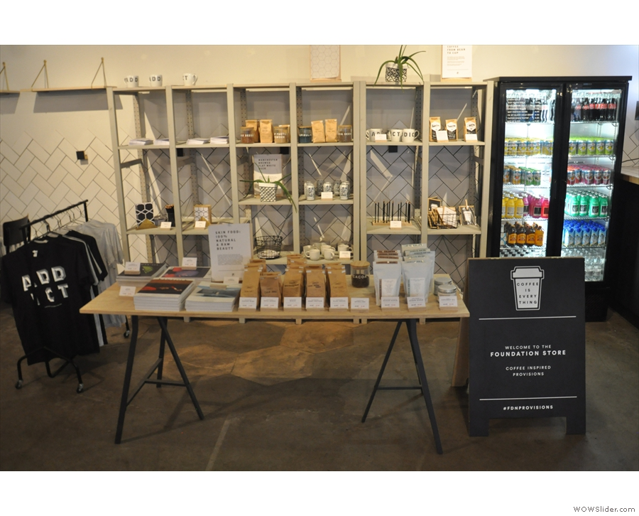 ... the Foundation Store, selling coffee and coffee-related bits and pieces.