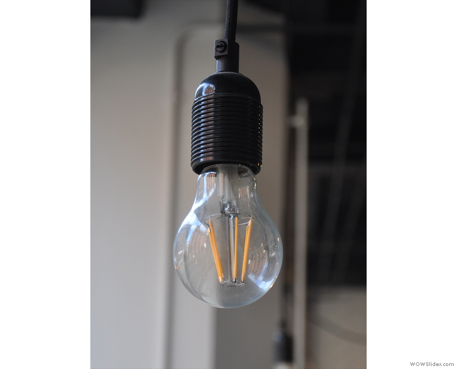 ... as well as the more traditional, single exposed bulb.