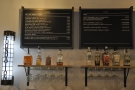 The menus, meanwhile, are on the wall behind the counter. Here's beer, cider & wine...