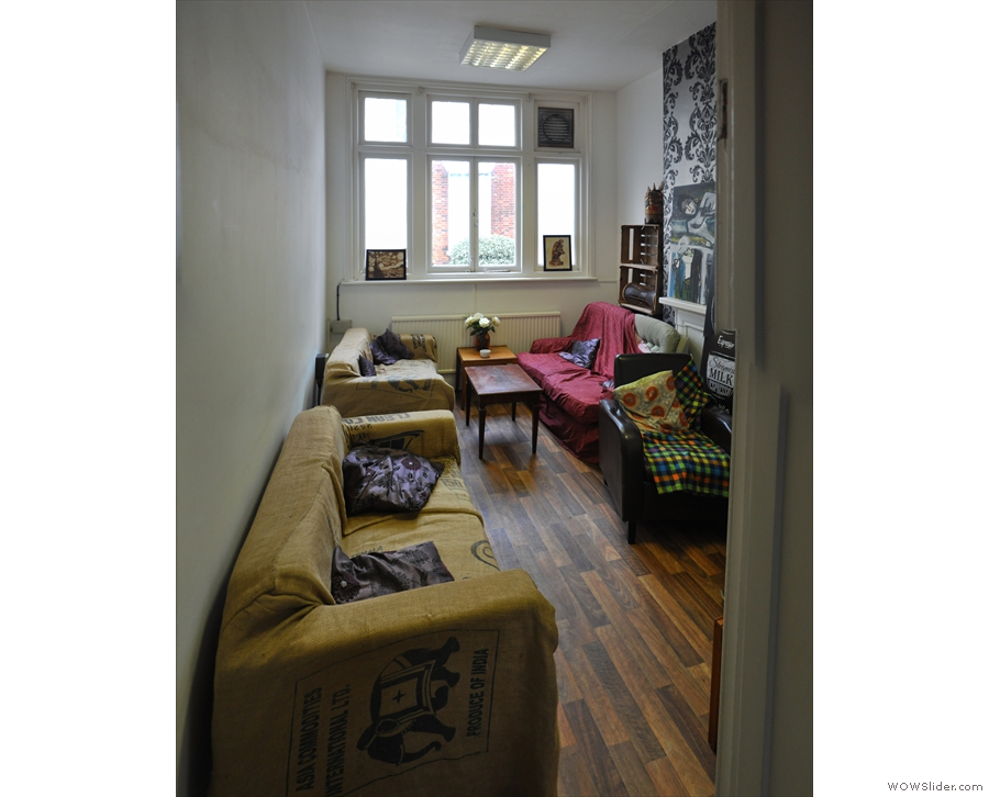 At the front of the building, on the first floor, is this cosy sitting room.