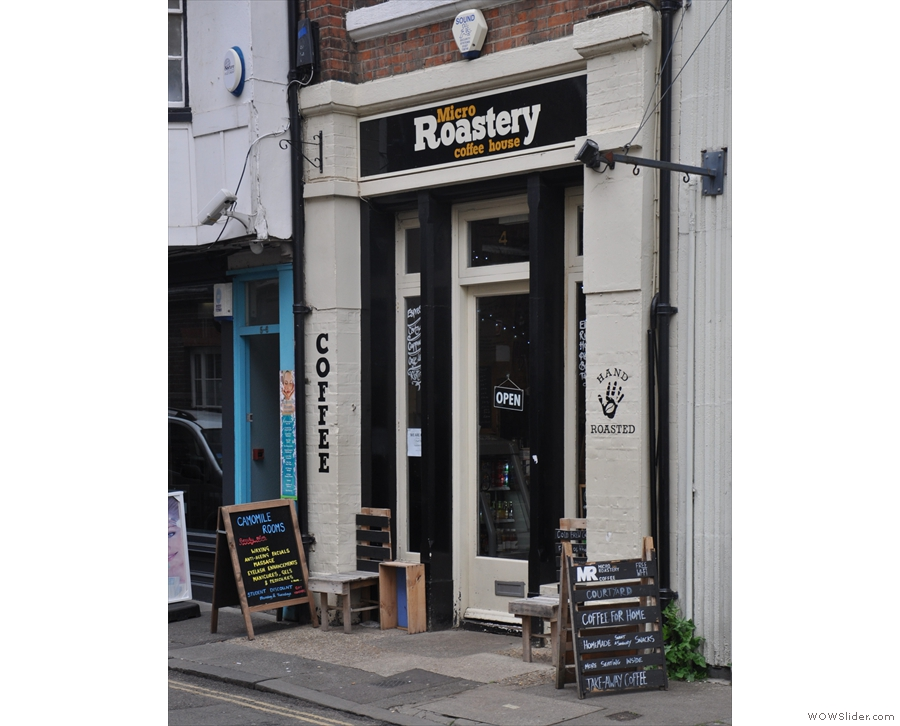 On a quiet sidestreet in the heart of Canterbury, you'll find a narrow storefront.