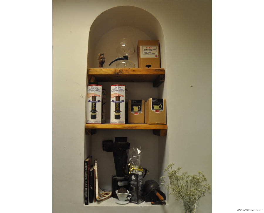 ... plus several retail shelves dotted around the place.