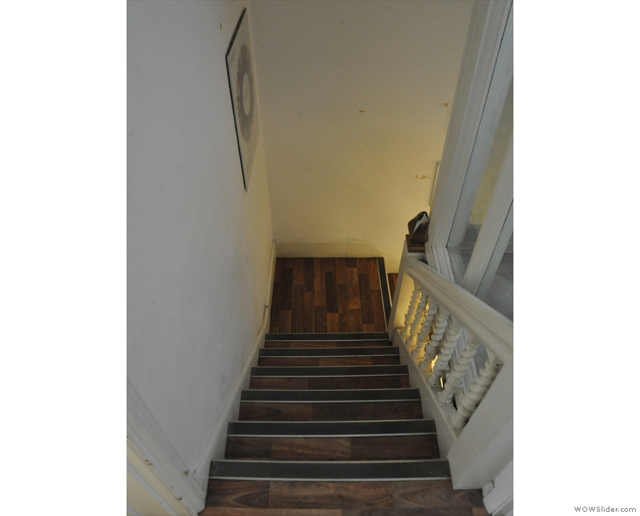 Stairs always look that much steeper on the way down.