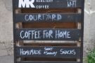 It's the Micro Roastery and the A-board pretty much says it all.