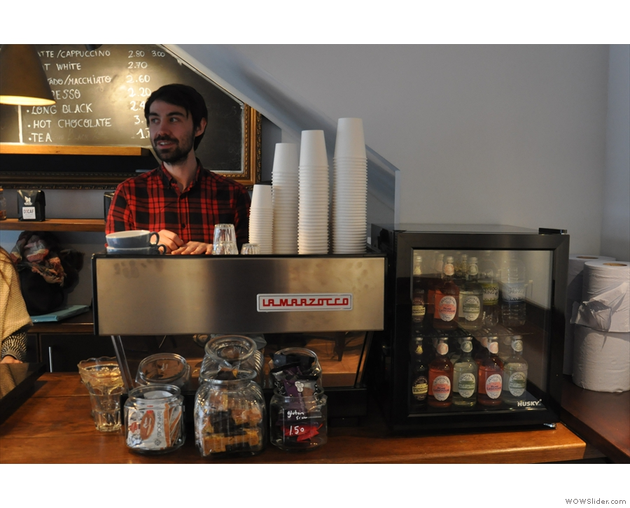 After a brief hiatus, Dan is back where he belongs, behind the espresso machine...
