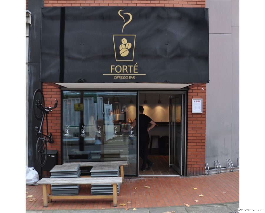 Forte is more cube than anything else. In an optomistic move, there is outside seating...