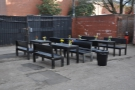There was an outdoor seating area here (photo from last year)...