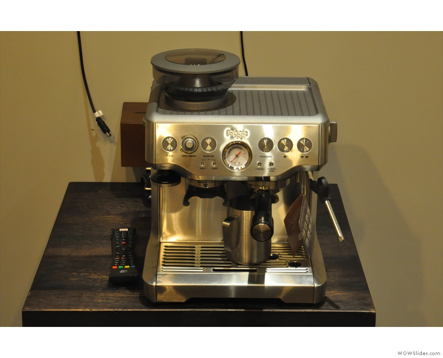 ... 200 Degrees also uses home machines, such as this Sage Barista Express.