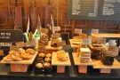 Back on the counter, there's the usual array of cakes to tempt you before the till...