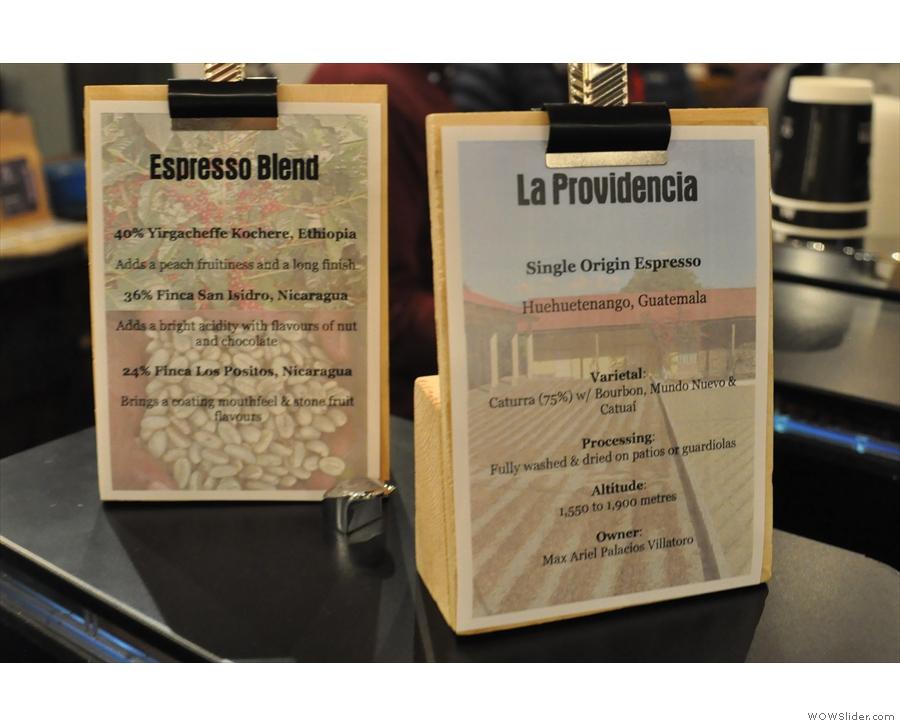 ... where Gareth & Angharad were launching a new single-origin espresso.