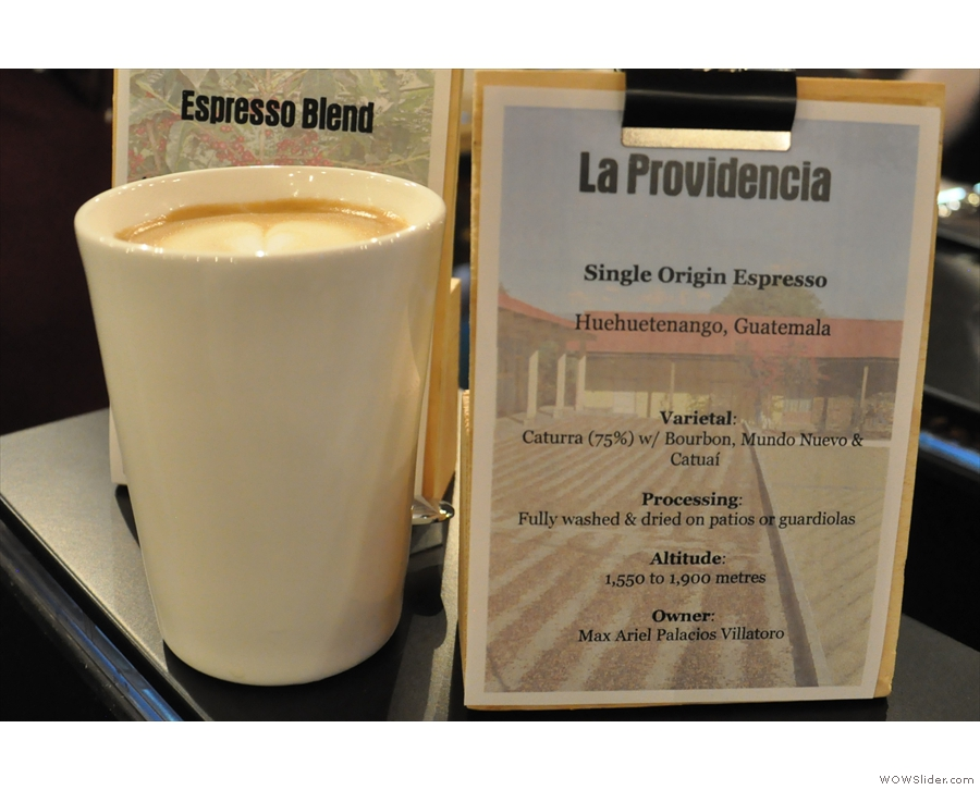 Naturally, I had to try it. It made for a fabulous flat white in my Therma Cup.
