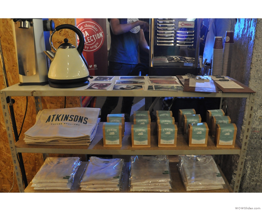 As well as the usual array of merchandising and coffee...