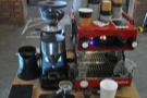 A La Marzocco Mini, a grinder, some scales & a stop watch. What could possibly go wrong?