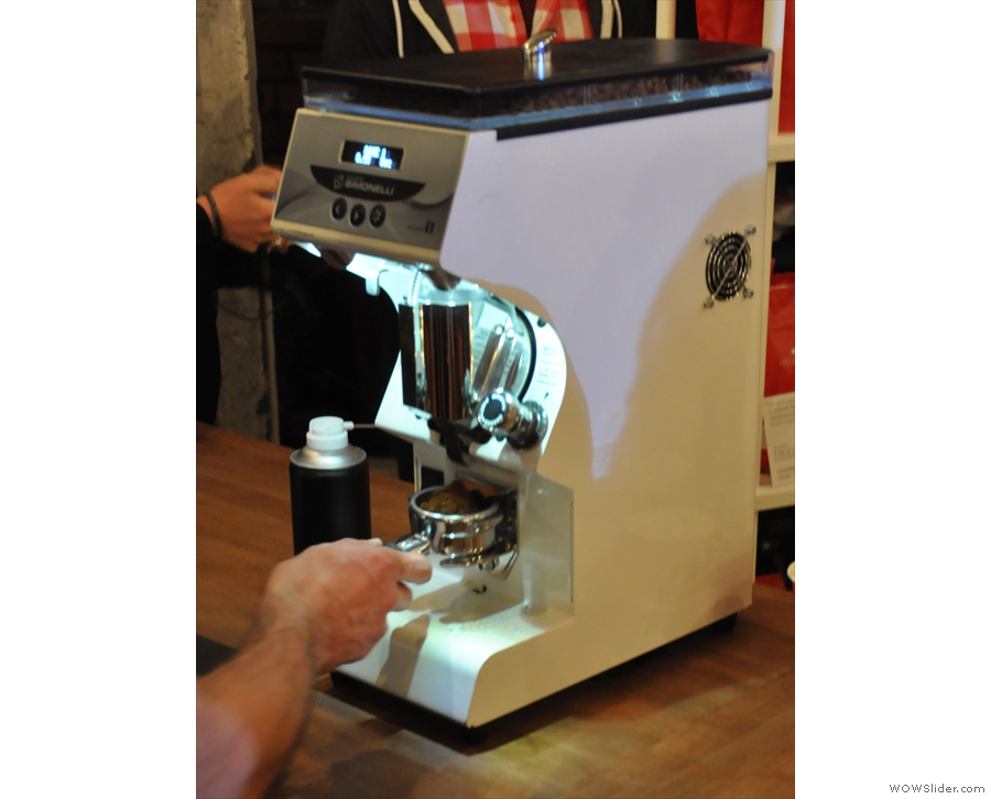 ... and, off to one side, who else, but Dale Harris, UK Barista Champion, was making coffee.