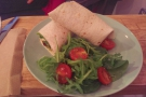I went for the Harrisa Hummus wrap with halloumi...