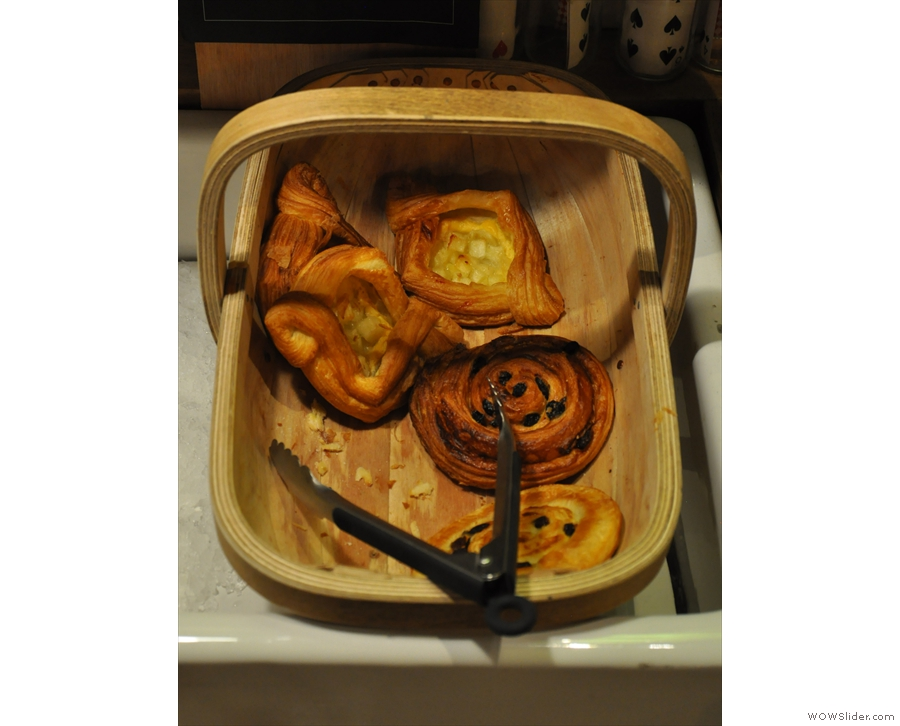 Finally, there's a basket of pastries down by the till.