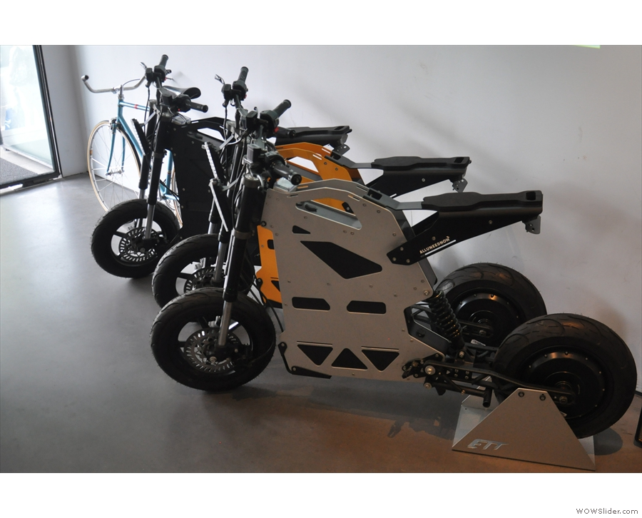 These, I think, are electric motorbikes, which you can either rent or buy.