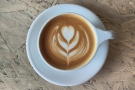 ... settling on this rather lovely cappuccino and its excellent latte art...