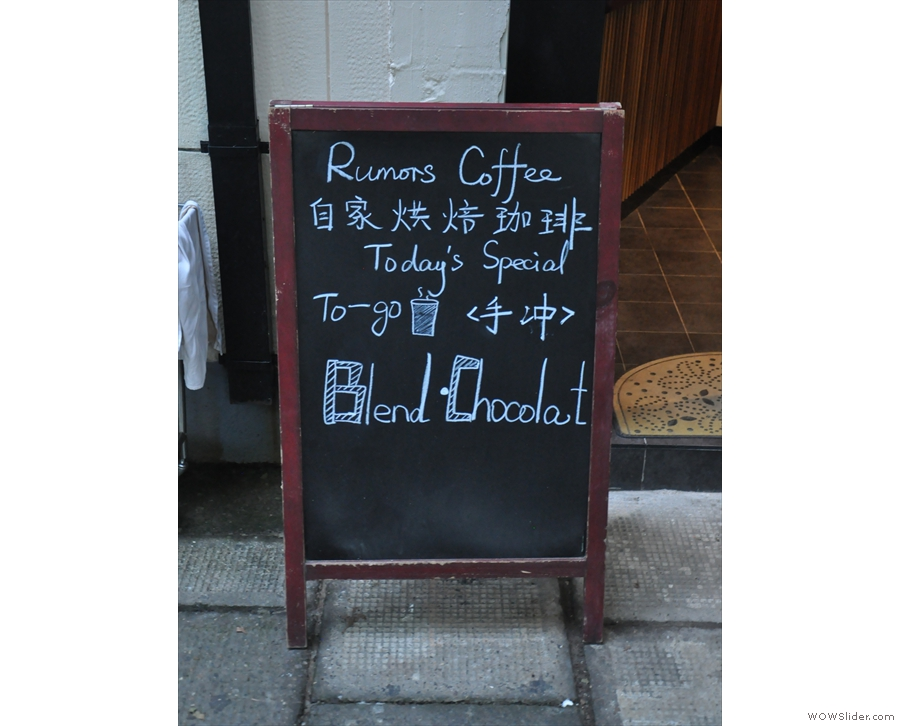 There's also an A-board to tempt you in.