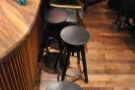 ... starting with a row of stools, Japanese style, by the counter...
