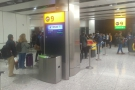 Once again, business class queue-jumping privilege kicks in. Economy's boarding to the left.