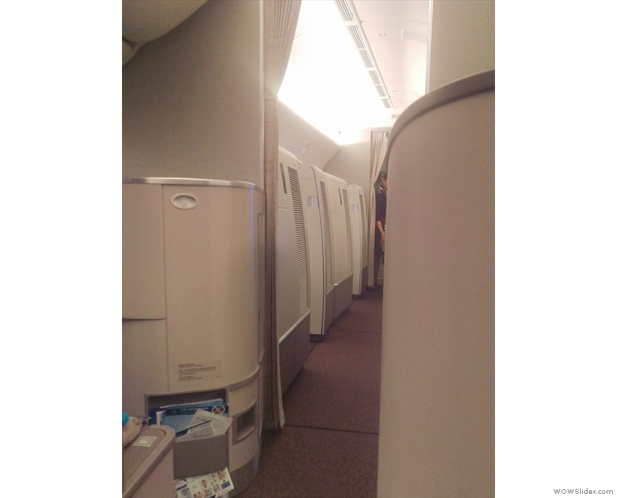 Normally I'm in the back, looking at business class. Here I'm looking up to first class!