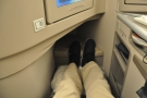 Behold my legrooom! And this is with the seat upright and my legs stretched fully out.