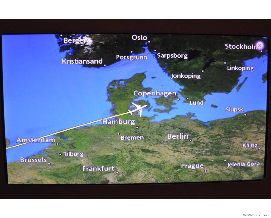We were crossing Denmark...
