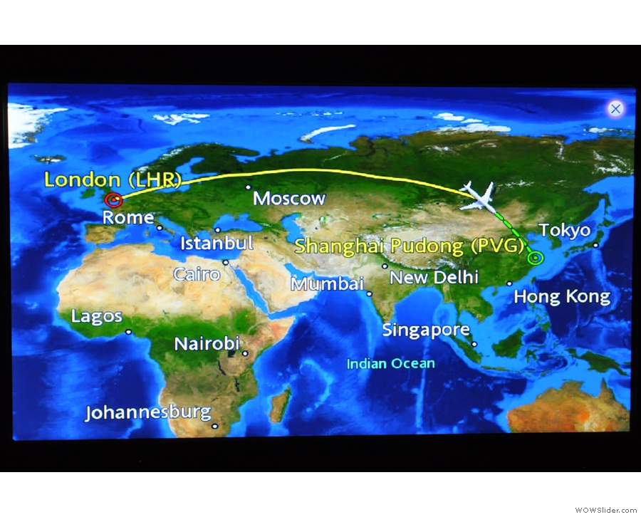 I got around four hours sleep, during which time we flew over Russia. And nothing else!
