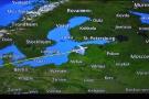 ... then over Latvia and its capital, Riga...