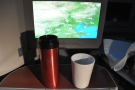 Celebrating my imminent arrival in Shanghai with my Travel Press and Therma Cup.